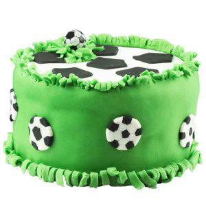 Surprise football pinata cake
