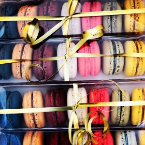 handcrafted gourmet French macarons assortment gift box
